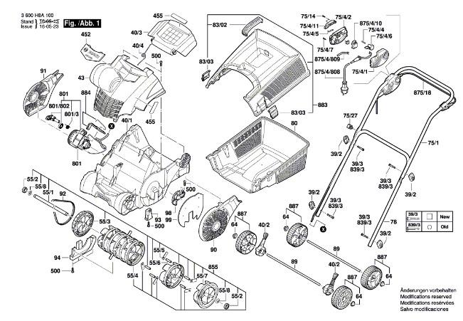 Запчасти к вертикуттеру BOSH AVR 1100