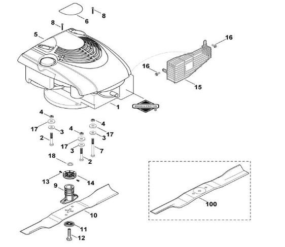 Схема клиноременного шкива ножа для модели