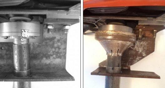 Сверлим отверстия для крепления лодочного мотора из бензопилы
