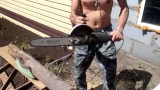 Цепная электропила из болгарки