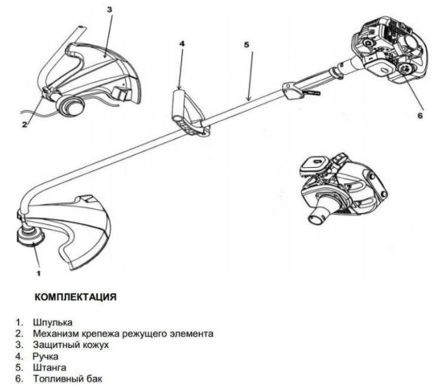 Чертеж мотокосы Forte EMK 420