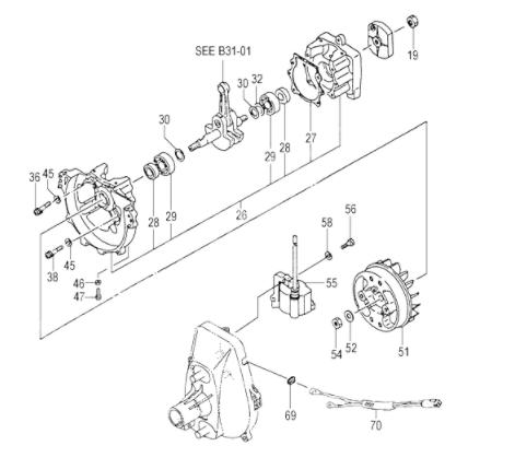 Схема мотокосы Hitachi CG 47 EY-T
