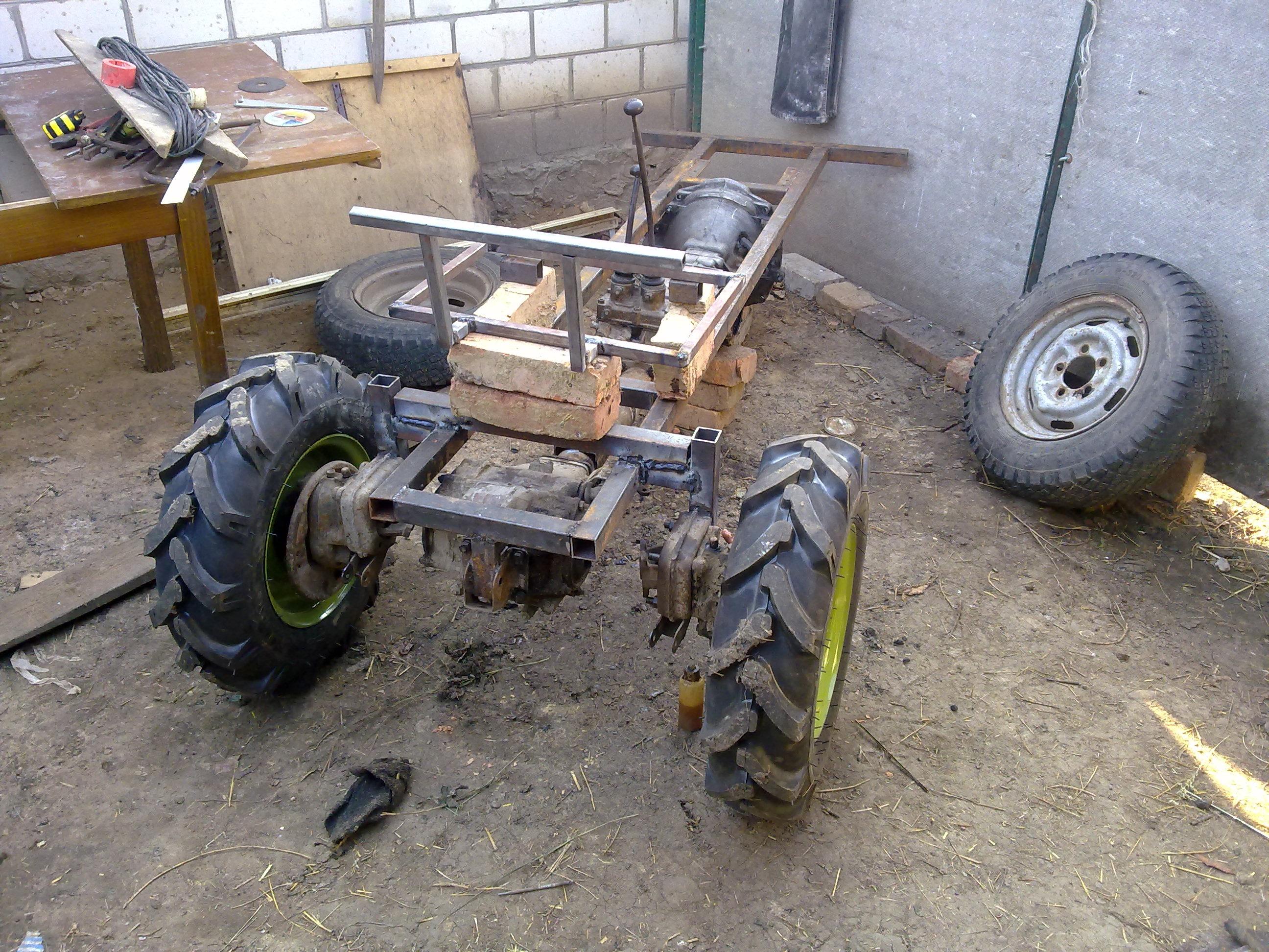 картинки самодельного трактора лучших